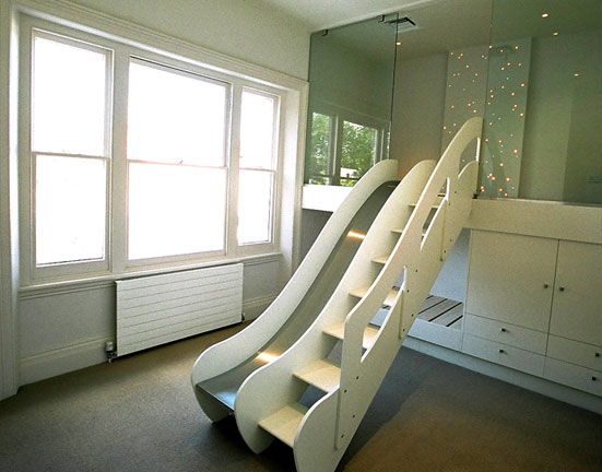 Childrens Bedroom On Childrens Bedroom Climb Slide